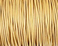 Gold (metallic) Round Leather Cord 2mm