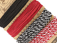 Poker Face Hemp Twine 20 lb, 29.8 ft x 4 colors
