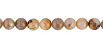 Golden Wooden Jasper (light) Round 6mm