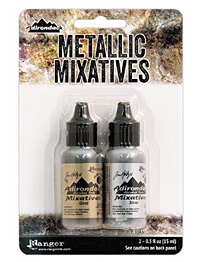 Adirondack Metallic Gold & Silver Mixative Kit