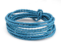 Turquoise Braided Cotton Bolo Cord 2mm