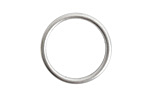 Nunn Design Antique Silver (plated) Open Frame Small Hoop 24.5mm
