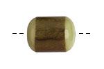 Tagua Nut Olive Bicolor Barrel 23-24x16-17mm
