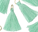 Sweet Mint w/ Jump Ring Thread Tassel 30mm