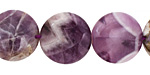 Dogtooth Amethyst Puff Coin 18mm