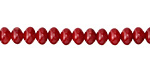 Red Coral Rondelle 4x6mm