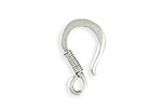 Vintaj Antique Sterling Silver (plated) Coiled Wire Hook 13x22mm