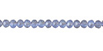 Matte Light Sapphire AB Crystal Faceted Rondelle 4mm