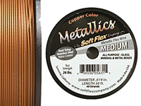 "Soft Flex Copper Metallic .019"" (Medium) 49 Strand Wire 30ft."