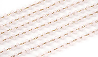 Seashell Crystal 3mm Delicate Brass Bead Chain