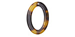Zola Elements Tortoise Shell Acetate Oval Ring 15x22mm