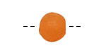 African Recycled Glass Persimmon Tumbled Round 10-14mm