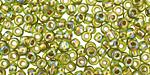 TOHO Rainbow Peridot (with Gold Lining) Round 6/0 Seed Bead