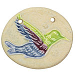 Gaea Ceramic Hummingbird Pendant 47-50x39-42mm