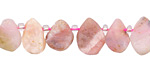 Pink Opal Matte Freeform Natural Cut Teardrop 6-12x9-16mm