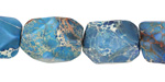 Denim Blue Impression Jasper Faceted Nugget 15-20x13-15mm