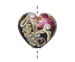 Grace Lampwork Amethyst Treasure Large Heart 24x26mm