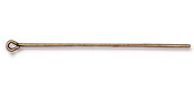 "TierraCast Antique Brass (plated) Eye Pin 2"", 21 gauge"