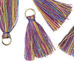 Carnival w/ Jump Ring Thread Tassel 30mm