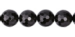 Black Tourmaline Faceted Round 12mm