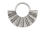 Zola Elements Antique Silver (plated) Fanned U Focal 34x28mm