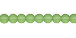 Olive Recycled Glass Round 6mm