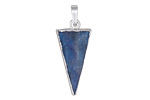 Kyanite Triangle Pendant w/ Silver Finish 12x31mm