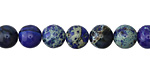 Midnight Blue Impression Jasper Round 8mm