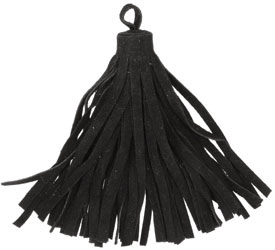 Black Large Suede Tassel