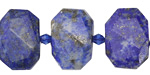 Lapis Faceted Flat Slab 14-16x18-22mm