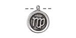Greek Pewter Virgo Pendant 15x18mm