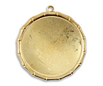 Vintaj Vogue Large Bamboo Circle Bezel Pendant 40mm