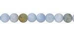 Aquamarine (matte-multi) Round 6mm