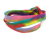 Kaleidoscope Hand Dyed 100% Silk Ribbon 7/16""