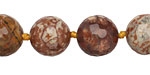 Bird's Eye Rhyolite Faceted Round 14mm