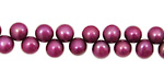 Berry Pink Dancing Button 6-6.5mm