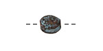 Greek Copper Patina Hammered Spacer Bead 11mm