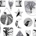 Nunn Design Birds & Trees Collage Sheet