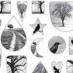 Nunn Design Birds & Trees Collage Sheet