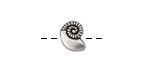 Antique Silver (plated) Nautilus Bead 8x11mm