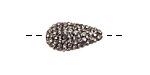 Black Diamond Pave (w/ Preciosa Crystals) Teardrop 19x10mm (1.5mm hole)