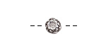 Antique Silver (plated) Blooming Lotus Bead 7x6mm
