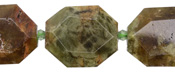 Green Garnet Faceted Flat Slab 23-25x19-21mm