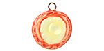 Jangles Ceramic Red & Yellow Charm 18-21x22-25mm
