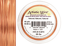 Artistic Wire Natural 28 gauge, 40 yards