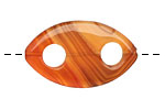 Carnelian (natural) Drilled Horse Eye 32-36x20-22mm