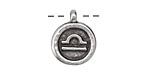 Greek Pewter Libra Pendant 15x18mm
