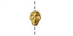 Gold (plated) Hematite Skull 8x10mm