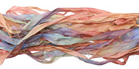 "Painted Desert Hand Dyed 100% Habotai Silk Ribbon 1/2""-1"""