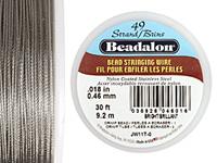 "Beadalon Bright .018"" 49 Strand Wire 30ft."
